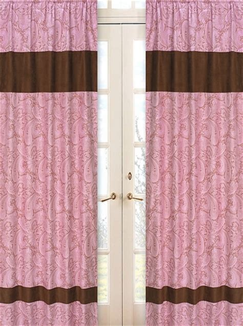 paisley curtains window treatments pink paisley window treatment panels set of 2 only 49 99