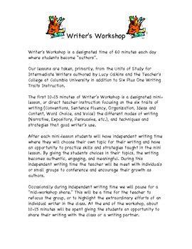 Parent Letter Writing Workshop writer s workshop parent letter by buckley tpt