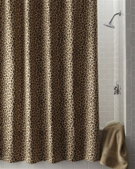 leopard shower curtains legacy home leopard print shower curtain