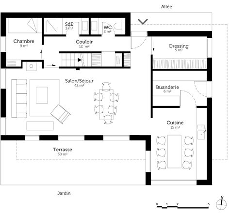 Plan Maison 5 Chambres Avec Etage by Plan Maison 224 233 Tage Avec 5 Chambres Ooreka