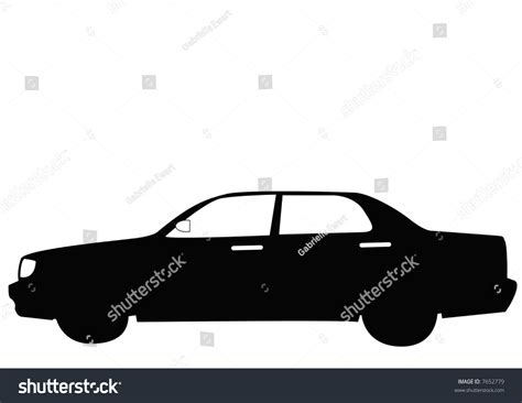 family car side view black family car side view stock illustration 7652779