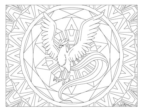 pokemon coloring pages for adults 144 articuno pokemon coloring page 183 windingpathsart com