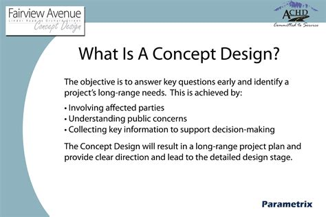 concept design definition achd projects