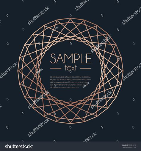 geometric rose gold design template modern design for wedding geometric rose gold design template modern stock vector