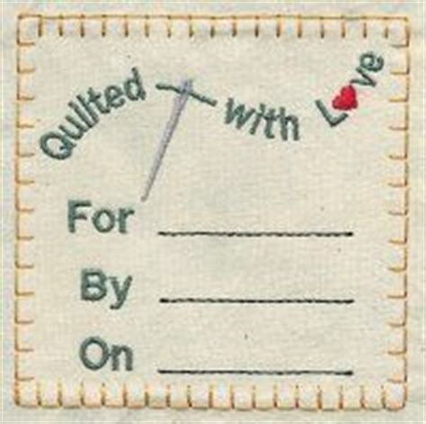 free printable quilt label patterns label for wedding gift quilt my quilts pinterest