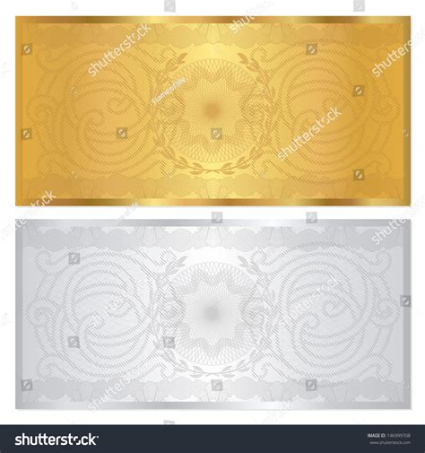 design background voucher voucher template with guilloche pattern watermark and
