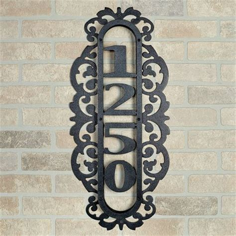 house numbers pattern laroyal black vertical house number address plaque