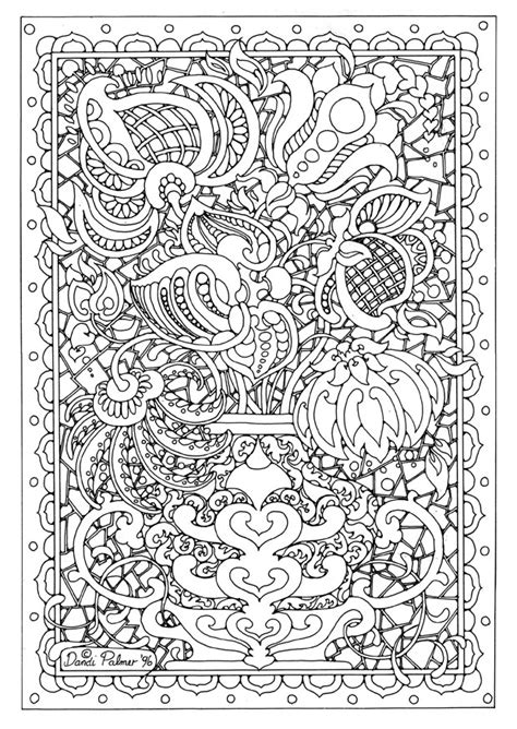 detailed flower coloring pages flower coloring page