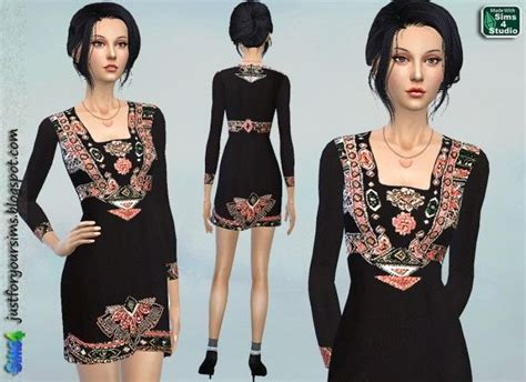 Gamis Etnic Embrodery 687 Best Images About Sims 4 Clothing On The
