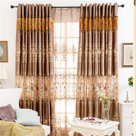 brown floral jacquard and embroidery poly cotton blend