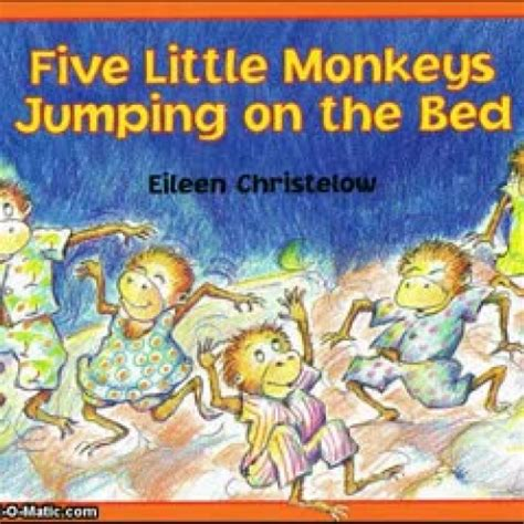 4 little monkeys jumping on the bed five little monkeys jumping on the bed