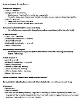 sle of argumentative essay outline argument essay sle outline fsa by academics come