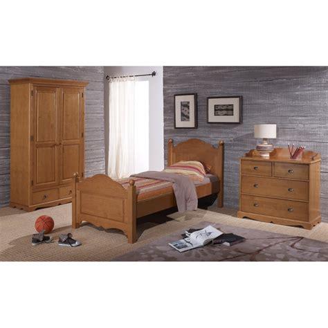 chambre enfant pin chambre compl 232 te pin miel lit armoire commode