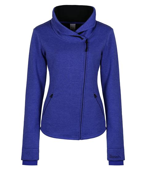 bench zip up bench metier zip up sweat jacket in blue lyst