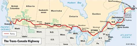 map of us and canada highways trans canada highway highway canada britannica