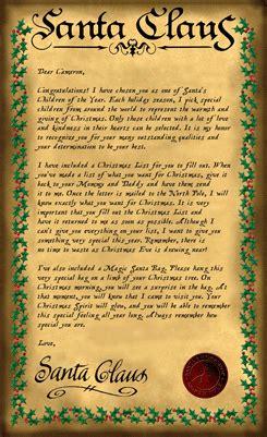 santa claus letter sample magical santa claus letters