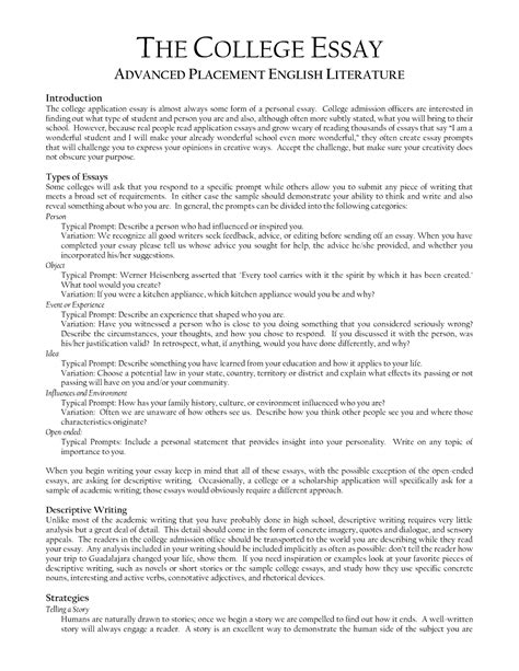 Creative College Application Essay Ideas The College Essay 187 Crafting An Unforgettable College Essay Apply The Princeton Review