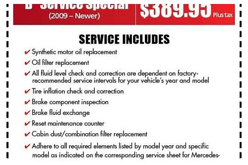 mercedes benz service coupons