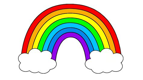 Pictures Of Rainbows To Color by Rainbow Clipart Colored Pencil And In Color Rainbow