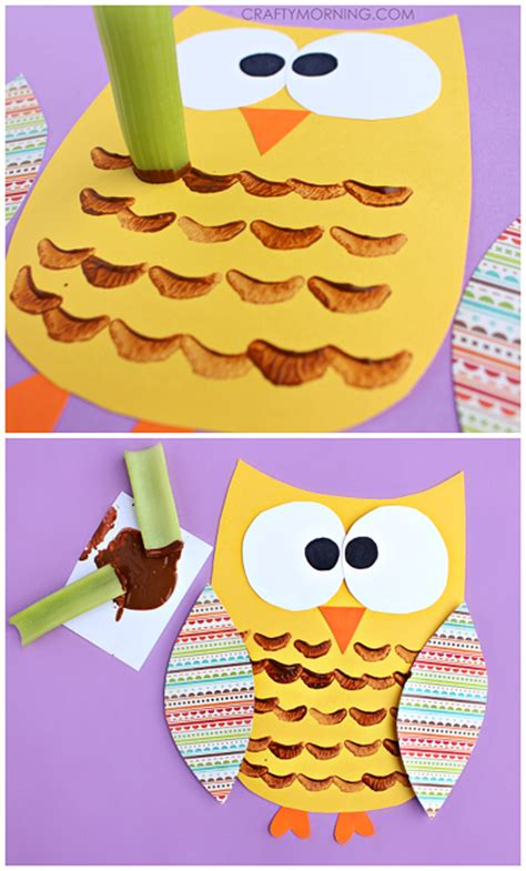 Paint Snowy Owls Tippytoe Crafts Preschool Books - celery sted owl craft for crafty morning