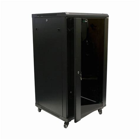22u it wall mount network server data cabinet rack glass