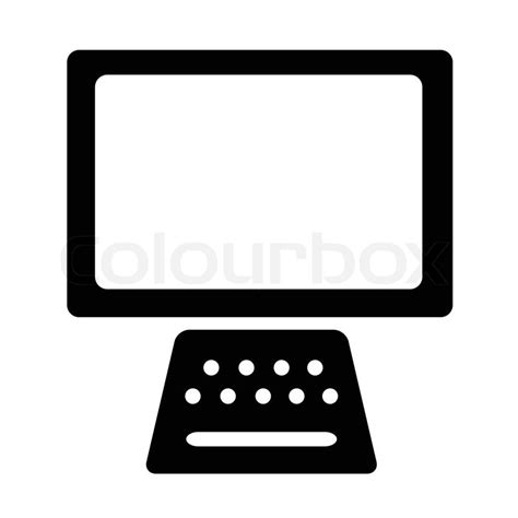 Home Designer Pro Electrical by Computer Icon With Monitor And Keyboard Stock Vector