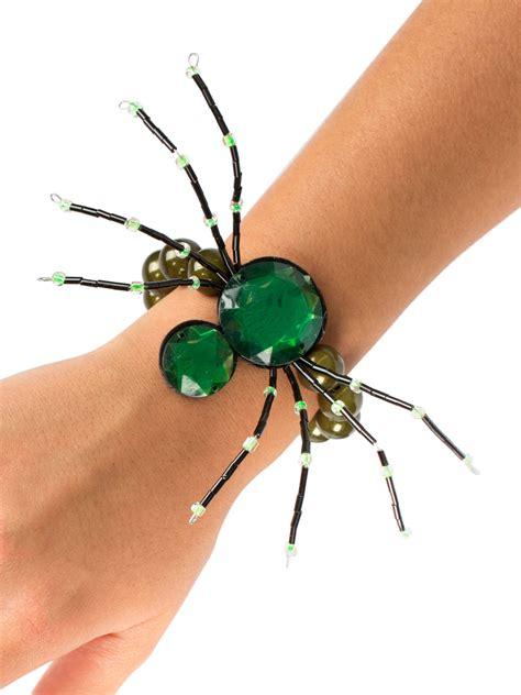 spinnen armband halloween schmuck gothic gruen guenstige