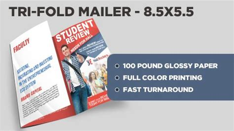 tri fold direct mail postcard 8 5x16 5 to 8 5x5 5