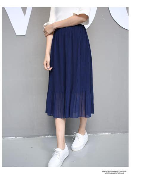 sheer pleated chiffon midi skirt on luulla