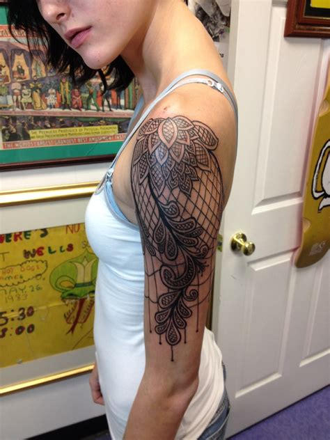 lace sleeve tattoo 50 remarkable lace designs