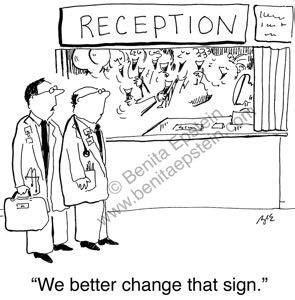 theme hospital quotes receptionist medical cartoons
