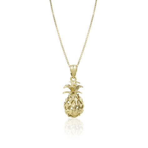 Jewelry Companies by 14k Gold Yellow Pineapple Pendant