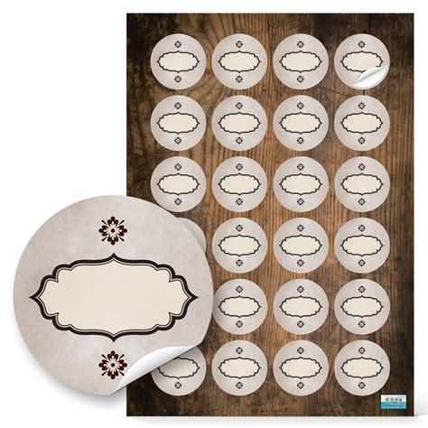 Sticker Drucken Oval by Leere Etiketten Sticker Braun Beige Oval 4 Cm Rund