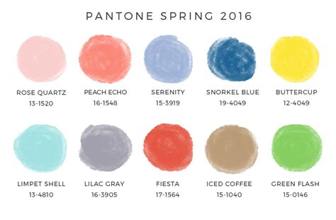 colors for 2016 pantone spring 2016 colors enreverie blog