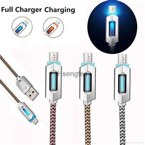 Samsung V8 Braided Micro Usb Cable 1 Meter Purple led braid braided v8 micro usb charger lightning charging data line