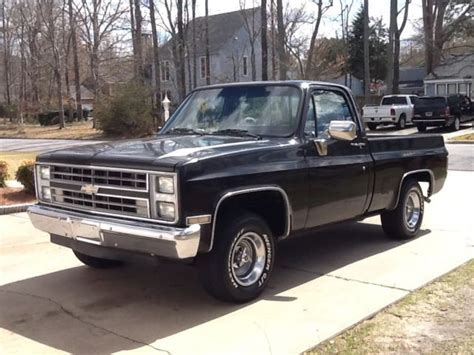 chevy silverado truck bed for sale 1985 black chevrolet silverado short bed truck for sale