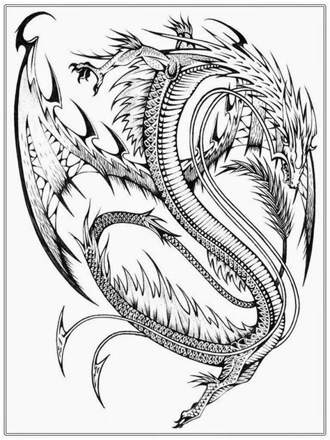 free coloring pages of flying dragon