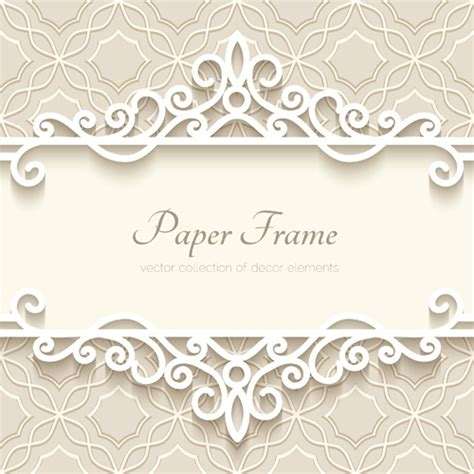 Paper Frames - paper frame with beige background vector free vector in