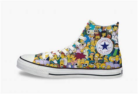 simpsons x converse chuck all with all