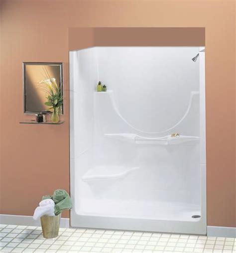 menards bathroom showers maax 174 60 quot allegro ii 2 piece shower lh seat no roofcap