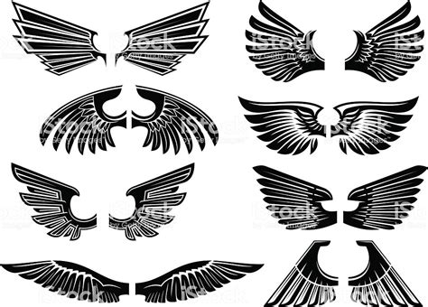 tattoo tribal wings designs vector tribal wings for heraldry or design stock