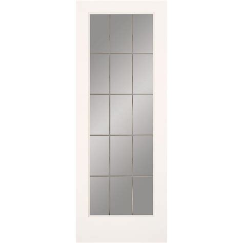 Glass Door For Home Masonite 30 In X 80 In Sandblast Lite Solid Primed Mdf Interior Door Slab With