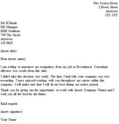 Resignation Letter For Human Resources Resignation Letter Format Resignation Letter Sle With