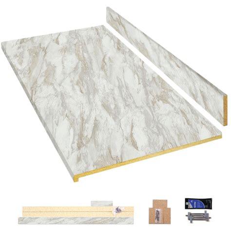 hampton bay  ft laminate countertop kit  drama marble