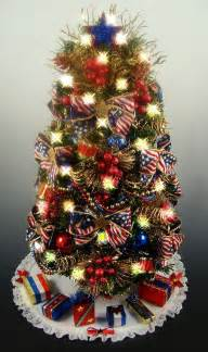 best decorated christmas trees decorated patriotic tabletop mini christmas tree red white