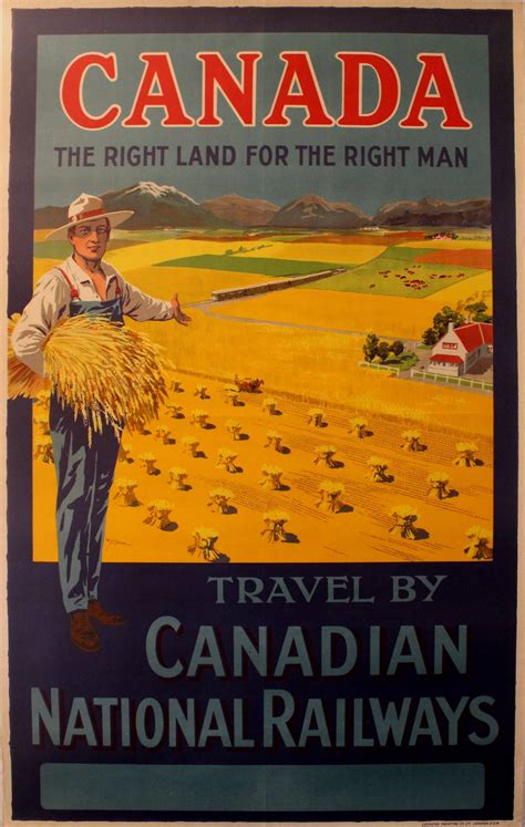 when comes the canadian west 2 w y calder original vintage railway travel poster
