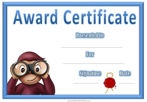 kids crafts printable certificates aunt and diy artwork