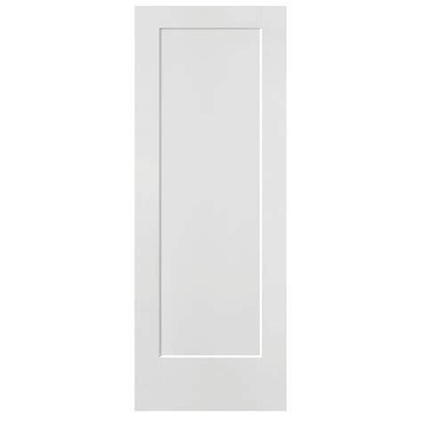 Masonite 28 in. x 80 in. Lincoln Park Primed 1 Panel Solid Core Composite Interior Door Slab