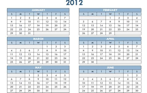 templates free 2012 2012 printable pdf one page yearly calendar template