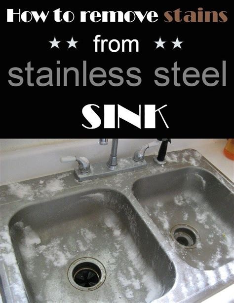 How To Clean Stains From Stainless Steel Sink how to remove stains from stainless steel sink
